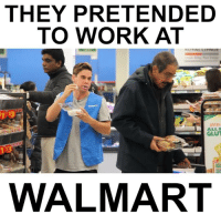THEY PRETENDED TO WORK AT WALMART 😂️😭️😂️😭️😂️😭️😂️😭️: THEY PRETENDED  TO WORK AT  gluten-  WALMART THEY PRETENDED TO WORK AT WALMART 😂️😭️😂️😭️😂️😭️😂️😭️