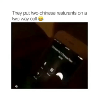 Funny, Chinese, and Wild: They put two chinese resturants on a  two way cale you wild for this one @krispyshorts