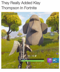 Anaconda, Klay Thompson, and Memes: They Really Added Klay  Thompson In Fortnite  @WARRIORSCHOKE  15  tledawg with a pistol  TTG  30 10  0 100 Now they just need to add a 🐍
