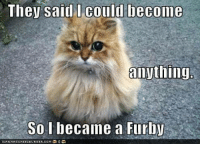 :): They said Could become  anything.  So became a Furby  ICANHASCHEEZEURGER.COM :)