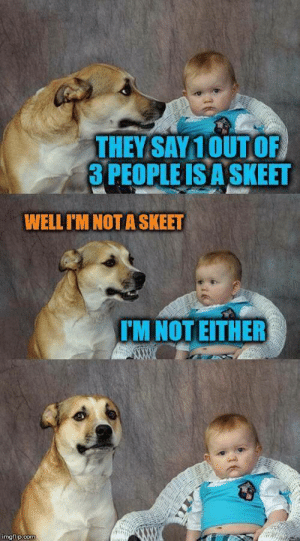 Dank, Memes, and Reddit: THEY SAY10UT OF  3 PEOPLE IS A SKEET  WELL I'M NOT A SKEET  TM NOT EITHER  imgflip.com Are you? by Ganbongdorf FOLLOW 4 MORE MEMES.