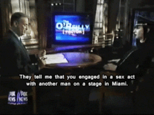 When people press me on my sex life: They tell me that you engaged in a sex act  with another man on a stage in Miami. When people press me on my sex life
