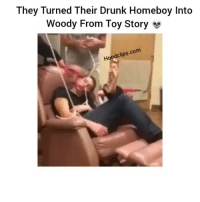 They some savage friends💀: They Turned Their Drunk Homeboy Into  Woody From Toy Story se  com  odclips.  Hoo They some savage friends💀