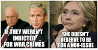 "Here's a little perspective on the Hillary Clinton email ""scandal."" ~ Chad: THEY WERENT  SHE DOESNT  INDICTED  DESERVE TO BE  FOR WAR CRIMES  FOR A NON-ISSUE Here's a little perspective on the Hillary Clinton email ""scandal."" ~ Chad"
