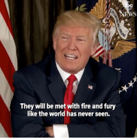 "🔊 Trump "" North Korea best not make any more threats to the United States. They will be met with the fire and the fury like the world has never seen."" Tag Your Friends & Follow us @unclesamsmisguidedchildren 🇺🇸FB page Fb.Com-UncleSamsChildren 🇺🇸YouTube Channel youtube.com-c-UncleSamsMisguidedChildren 🇺🇸 Visit our website for AlternativeMedia www.UncleSamsMisguidedChildren.com 🇺🇸 unclesamsmisguidedchildren MisguidedLife USMCNation AmericanProud veteranowned Murica Merica USMC maddogmattis secondamendment NRA Deplorable gunchannels guns covfefe conservative 2ndamendment maga republican trump2020 trumpmemes tactical igmilitia donaldtrump Backtheblue cnnfakenews gop 1776 freedom: They will be met with fire and fury  like the world has never seen. 🔊 Trump "" North Korea best not make any more threats to the United States. They will be met with the fire and the fury like the world has never seen."" Tag Your Friends & Follow us @unclesamsmisguidedchildren 🇺🇸FB page Fb.Com-UncleSamsChildren 🇺🇸YouTube Channel youtube.com-c-UncleSamsMisguidedChildren 🇺🇸 Visit our website for AlternativeMedia www.UncleSamsMisguidedChildren.com 🇺🇸 unclesamsmisguidedchildren MisguidedLife USMCNation AmericanProud veteranowned Murica Merica USMC maddogmattis secondamendment NRA Deplorable gunchannels guns covfefe conservative 2ndamendment maga republican trump2020 trumpmemes tactical igmilitia donaldtrump Backtheblue cnnfakenews gop 1776 freedom"