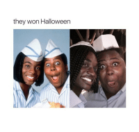 <p>Welcome to Pretty Good Burger.. (via /r/BlackPeopleTwitter)</p>: they won Halloweern <p>Welcome to Pretty Good Burger.. (via /r/BlackPeopleTwitter)</p>