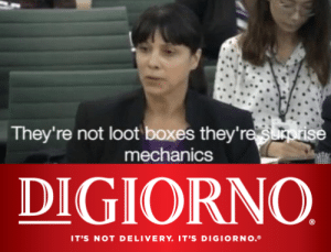Pizza, Time, and Digiorno: They're not loot boxes they're surprise  mechanics  DIGIORNO  IT'S NOT DELIVERY. IT'S DIGIORNO. Pizza time