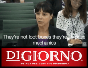 Digiorno, Mechanics, and Surprise: They're not loot boxes they're surprise  mechanics  DIGIORNO  IT'S NOT DELIVERY. IT'S DIGIORNO. Mmmmm surprises!