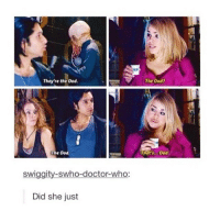 Doctor, Memes, and Doctor Who: They're the Ood  The Ood?  The Ood  That's...Ood.  swiggity-swho-doctor-who:  Did she just { doctorwho doctor christophereccleston davidtennant mattsmith petercapaldi ninthdoctor tenthdoctor eleventhdoctor twelfthdoctor tardis fantastic allonsy geronimo rosetyler marthajones donnanoble amypond ameliapond amywilliams ameliawilliams claraoswinoswald claraoswald oswinoswald badwolf thegirlwhowaited theimpossiblegirl}
