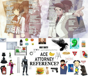 Shit, Image, and Ace Attorney: tHI  Eret  TEi  Toc  EB  ZICAM  HOLY SHIT!!  IS THAT AMOTHERFUCKING  VENUSA  ACE  ATTORNEY  REFERENCE?  VENUSAUR  used EARTHOUAKE  Objection If you can relate everything on the below image, my congrats