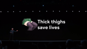 Anime, This, and Thick Thighs: Thick thighs  save lives Does this Count as an Animeme?