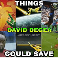 Memes, 🤖, and Team: THINGS  DAVID DE GEA  REDDEVILSEDIT  We ahesory but bore hasbeen  to FIFA  Ultimate Team You wilbereta  the FIFA15 Main Menu  A Ok  #Da.  Zlat  COULD SAVE Things @d_degeaofficial could save 😂 Which one is your favorite 👇