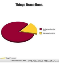 """Memes, Http, and Com: Things Draco Does.  Roll around on the  floor.  talk about pigfarts  GraphJam.com  Like this? You'll hate  MUGGLENET MEMES.COM <p>The Habits of Draco Malfoy <a href=""""http://ift.tt/1sYNSdV"""">http://ift.tt/1sYNSdV</a></p>"""