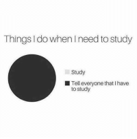 Facts, Memes, and 🤖: Things I do when Ineed to study  Study  Tell everyone that I have  to study Facts 💯😂