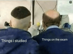 Studied: Things i studied  Things on the exam