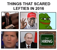 And 2017 is going to be a lot worse for them. Kek  So, what did i miss?: THINGS THAT SCARED  LEFTIES IN 2016  GREATAGAN  Nour  HIRING And 2017 is going to be a lot worse for them. Kek  So, what did i miss?