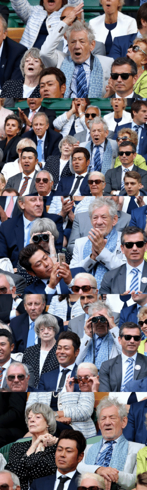 Goals, News, and Target: thingsineverneeded:  entertainmentweekly: Ian McKellen and Maggie Smith are living their best lives at Wimbledon  Goals