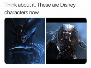 disney characters: Think about it. These are Disney  characters now.