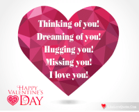 dreaming of you: Thinking of you!  Dreaming of you!  Hugging you!  Missing you!  Ilove you!  HAPPY  VALENTINES  DAY  eLoveQuotes.Com