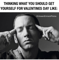 Any1 wanna go on a pizza date with me on valtentines day? I pay. 🍕 eminem slimshady marshallmathers teamshady: THINKING WHAT YOU SHOULD GET  YOURSELF FOR VALENTINES DAY LIKE:  UnseenEminem Photos Any1 wanna go on a pizza date with me on valtentines day? I pay. 🍕 eminem slimshady marshallmathers teamshady