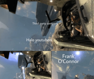 Halo, Party, and youtube.com: Third party company  Halo youtubers  Frank  O'Connor Youtube is broken...