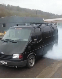 Memes, Boost, and 🤖: This 450bhp Cosworth swapped Transit must be one of the fastest ways to move things 💨 📹:Joe Hansom . . carmemes jdm turbo boost tuner carsofinstagram carswithoutlimits carporn instacars supercar carspotting supercarspotting stance stancenation stancedaily racecar blacklist cargram carthrottle drift itswhitenoise