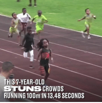 Blaze Ingram is only seven years old but he's already blowing people away with his speed 🏃‍♂️🔥: THIS 7-YEAR-OLD  STUNS CROWDS  RUNNING 100m IN 13.48 SECONDS Blaze Ingram is only seven years old but he's already blowing people away with his speed 🏃‍♂️🔥