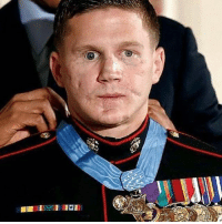 Memes, Lost, and Thank You: This American hero @chiksdigscars has an amazing story to tell!! Such an inspiration and motivator - Carpenter saved a fellow Marine from a grenade lobbed by a Taliban fighter, taking most of the damage himself. He lost his right eye and most of his teeth. His jaw and right arm were shattered. He spent five weeks in a coma, underwent dozens of surgeries and spent two years in the hospital for rehabilitation - Thank you for your service and your sacrifice brother! 🇺🇸 -