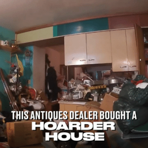 Dank, Trash, and House: THIS ANTIQUES DEALER BOUGHT A  HOARDER  HOUSE After purchasing an artist's jam-packed hoarder house, this antique dealer discovered all sorts of treasures and a secret room hidden amongst the trash 😮  Curiosity Inc.