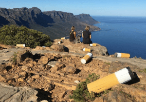 This art installation in Cape Town to discourage Cigarette Butt Littering: This art installation in Cape Town to discourage Cigarette Butt Littering
