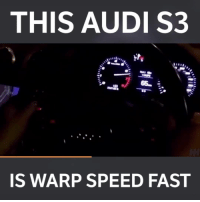 Memes, Audi, and 🤖: THIS AUDI S3  IS WARP SPEED FAST Damn this thing's quick! 📹:Gee Gallacher