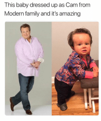 @pubity was voted 'best meme account on Instagram' 😂: This baby dressed up as Cam from  Modern family and it's amazing @pubity was voted 'best meme account on Instagram' 😂