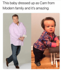 Modern Family: This baby dressed up as Cam fronm  Modern family and it's amazing