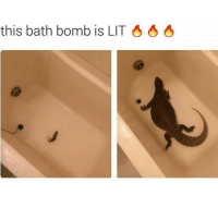 @memes is more lit.: this bath bomb is LIT @memes is more lit.