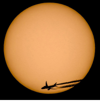 This beautiful image of a plane silhouetted against the sun was taken through an astronomical telescope equipped with a solar filter film. ☀️✈️ Photojournalist Peter Komka captured the shot in the village of Vizslas in Hungary. 📷 PHOTO: EPA-Peter Komka photography sun planespotting bbcnews: This beautiful image of a plane silhouetted against the sun was taken through an astronomical telescope equipped with a solar filter film. ☀️✈️ Photojournalist Peter Komka captured the shot in the village of Vizslas in Hungary. 📷 PHOTO: EPA-Peter Komka photography sun planespotting bbcnews