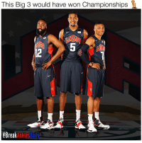 Memes, Break, and 🤖: This Big 3 would have won Championships  Break Just swipe left and enjoy 💯