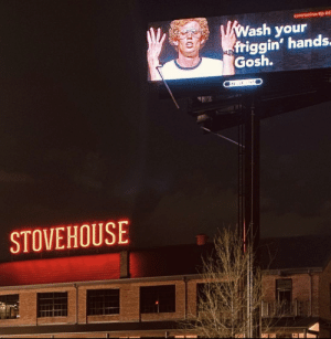 This billboard sign: This billboard sign