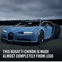 Dank, Lego, and Bugatti: THIS BUGATTI CHIRON IS MADE  ALMOST COMPLETELY FROM LEGO This Bugatti made from millions of  LEGO actually drives! 😮🏎