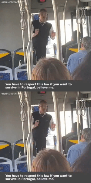 This bus driver in Portugal was setting down the law for tourists 🇵🇹😂 https://t.co/SuCfgrxm1s: This bus driver in Portugal was setting down the law for tourists 🇵🇹😂 https://t.co/SuCfgrxm1s