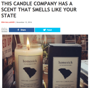 Chicago, Clothes, and Fresh: THIS CANDLE COMPANY HAS A  SCENT THAT SMELLS LIKE YOUR  STATE  ERIN GALLAGHER November 13, 2016  88k  f Share  Tweet  SHARES  ES TU  DI  homesick  homesick  SOUTH CAROLI  SOUTH CAROLINA heyheyitsjuju: musicalhell:  spottytonguedog:  pinchtheprincess:  copperbadge:  memprime:  podcasts-8-my-heart:  talkingcinemalight:  peppylilspitfuck:  icykitty:  strawberry-jambouree:  cherrymilkshake:  milkydolenz:  fscottfitzgerld:  1977punk: i was gonna make a joke about how the massachusetts candle probably smells like a drug deal in the dunkin donuts parking lot but then i checked and it legitimately smells like dunkin coffee i'm done  and i was going to make a joke about how the illinois candle just smells like cornfields and wheat fields but then i too checked and it literally does  me: what does the maine one smell like… snow? lighthouses? website: fresh Maine blueberries, me, looking down at my clothes stained beyond recognition from hours spent blueberry raking: *whispers* of course……   Maryland smells like old bay and salt This is accurate  The website is https://homesickcandles.com  checked arizona just for shits and giggles and it smells like SAND goodnight  Washington is Cherries, coffee, and rain.  Accurate.   You have no idea how pleased I was to see that there are two California candles. One for North and one for South. Oh and they seem to also have special ones for Los Angeles and San Francisco!   That's about right for Indiana.   @copperbadge There is an Illinois candle AND a Chicago candle!  I appreciate that the Chicago candle smells like the chocolate factory that makes downtown smell like chocolate sometimes, but let's be real, it should smell like pee and corruption.    Does Iowa smell like corn and soybeans, or hogs? Because I can tell you what I'm NOT buying, if it's the latter.   And as always they've forgotten there's a whole state north of NYC.   The Denver candle smells like fresh hemp, because of course it does.  …of course it does, I can smell it now  Ah Vermont smells like maple and trees what a fucking surprise