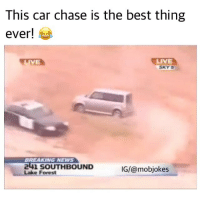 Nooo they caught her! 😭😂 Such a legend! Backup: @bitchpride: This car chase is the best thing  ever!  BREAKING NEWS  241 SOUTHBOUND  IG/@mobjokes  Lake Forest Nooo they caught her! 😭😂 Such a legend! Backup: @bitchpride