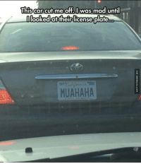 Memes, 🤖, and Html: This car cut me off. was mad until  looked attheir license plate.xo  MUAHAHA Evil License Plate http://www.damnlol.com/evil-license-plate-102482.html
