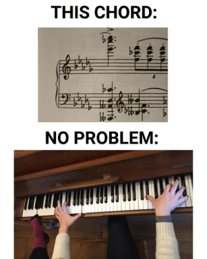 chrispalmermusic:When sometimes, you've got to get your whole body involved: THIS CHORD:  bd  NO PROBLEM: chrispalmermusic:When sometimes, you've got to get your whole body involved
