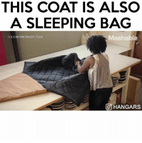 Friends, Memes, and Regret: THIS COAT IS ALSO  A SLEEPING BAG  Mashable  THE EMPOWERMENT PLAN  On HANGARS Follow me (@hangars) you wont regret it! 😱😂 - TAG 3 FRIENDS 💕