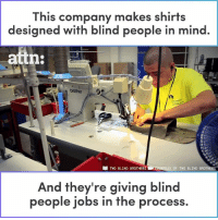 This Company Makes Shirts Designed With Blind People In Mind