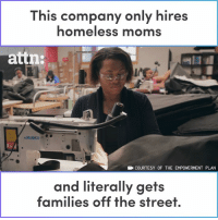 This company only hires homeless moms and it's literally changing their families' lives.: This company only hires  homeless moms  attn:  COURTESY OF THE EMPOWERMENT PLAN  and literally gets  families off the street This company only hires homeless moms and it's literally changing their families' lives.