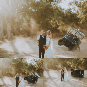 Best, Wedding, and Air: This couple wanted dust in the air for their wedding photos, the best man made it happenand then some