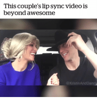 Goals, Video, and Awesome: This couple's lip sync video is  beyond awesome  @KristinAndDann Couples goals 🙌  Credit: Kristin and Danny