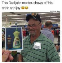 Tag a dad joker (@davie_dave): This Dad joke master, shows off his  pride and joy  IG: davie dave  14  Apr 67 to Apr 8 Tag a dad joker (@davie_dave)