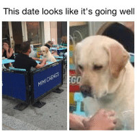 Is it just me or do it like the human is telling his doggo that he planned a 10 day trip to Paris for them complete with a bed and breakfast package at a small, quaint inn near the Eiffel Tower but the doggo tryina figure out how she gon tell the human that she just got back together with her ex Tyranius and is pregnant with his puppies and is moving out tomorrow to live back with Tyranius in the one bedroom flat under Tyranius' grandmama crib 😫😫😫😂😂😂 (📷: Reddit u-GallowBamboozle): This date looks like it's going well  MMICHENG Is it just me or do it like the human is telling his doggo that he planned a 10 day trip to Paris for them complete with a bed and breakfast package at a small, quaint inn near the Eiffel Tower but the doggo tryina figure out how she gon tell the human that she just got back together with her ex Tyranius and is pregnant with his puppies and is moving out tomorrow to live back with Tyranius in the one bedroom flat under Tyranius' grandmama crib 😫😫😫😂😂😂 (📷: Reddit u-GallowBamboozle)